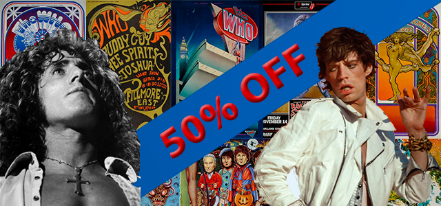 The Who & The Rolling Stones 50% Off The Who & The Rolling Stones 50% Off
