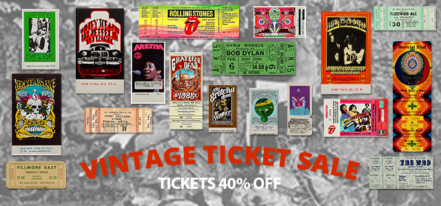 All Vintage Tickets 40% Off