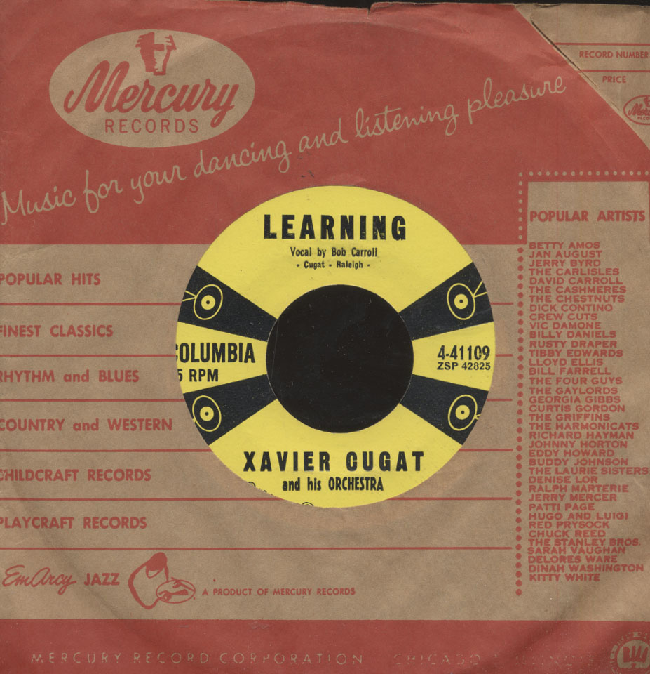 """Xavier Cugat And His Orchestra Vinyl 7"""" (Used)"""