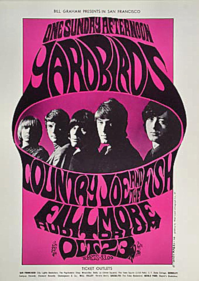 Yardbirds Handbill