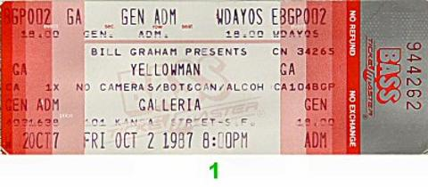 Yellowman Vintage Ticket