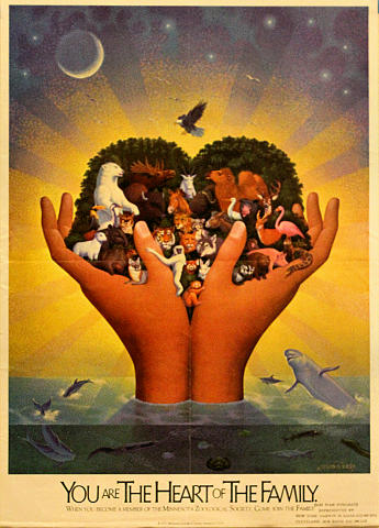 You Are the Heart of The Family - Minnesota Zoological Society Poster