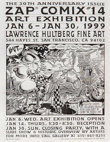 Zap Comix #14 Art Exhibition Handbill